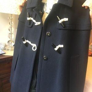 NEW!! Burberry winter cape! Navy Blue. Wool.